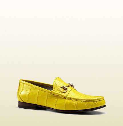 e1d889f65ae ... Leather Loafers Gucci 1953 Horsebit Loafer In Crocodile ...