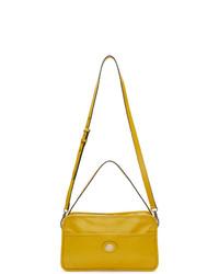 Mustard Leather Messenger Bag