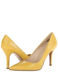 Mustard Leather Pumps