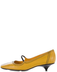 Miu Miu Square Toe Mary Jane Pumps