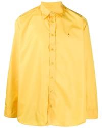 Raf Simons Embroidered Logo Buttoned Shirt