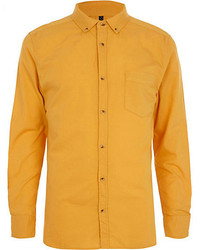 River Island Mustard Yellow Oxford Shirt
