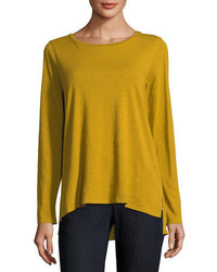 Long sleeve slubby organic cotton jersey tee medium 5276727