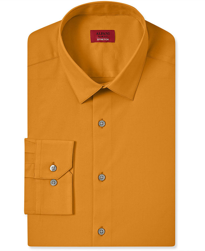 Alfani spectrum slim fit solid dress shirt for Where to buy a dress shirt