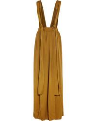 Lanvin Washed Satin Maxi Skirt Saffron