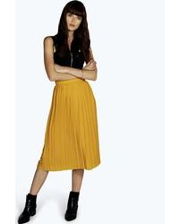 Mustard midi skirt original 4379155