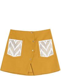Cotton blend mini skirt medium 727708