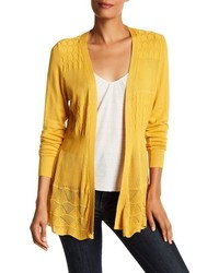 Dreamers By Debut Textured Open Front Cardigan