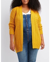 Charlotte Russe Plus Size Mixed Stitch Cardigan