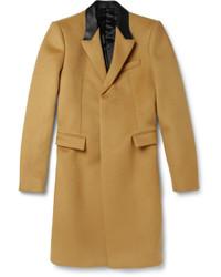 Burberry Prorsum Slim Fit Bonded Cashmere Blend Overcoat