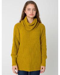 American apparel unisex oversized cotton fisherman turtleneck medium 113849