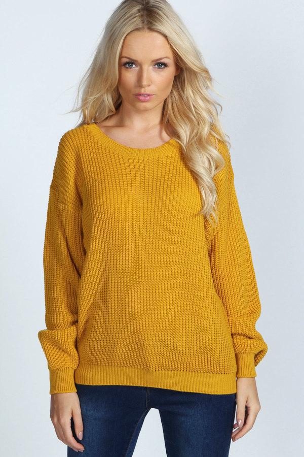 c4e01bd94bb ... Mustard Oversized Sweaters Boohoo Katherine Oversized Jumper ...