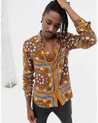 Mustard Paisley Long Sleeve Shirt