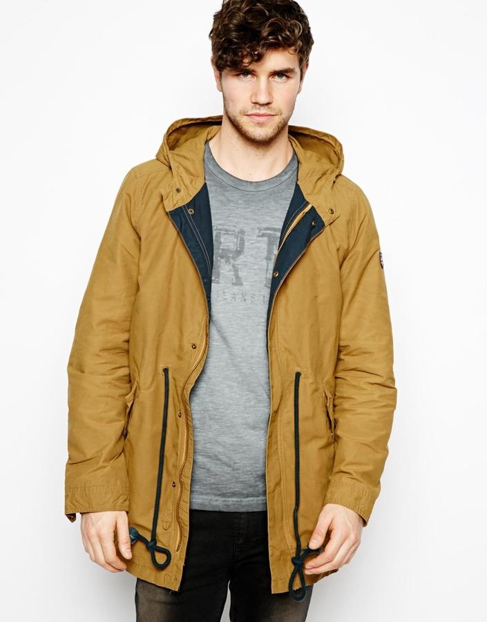 Pepe Jeans Pepe Parka Jacket Hooded Tie Waist | Where to buy & how ...
