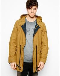 Pepe parka jacket hooded tie waist medium 179905