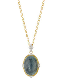 Jude Frances Judefrances Jewelry Moroccan 18k Labradorite Diamond Pendant Necklace