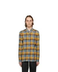 Rick Owens Yellow And Blue Plaid Golf Shirt