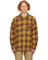 Doublet Yellow Purple Doll Flannel Shirt