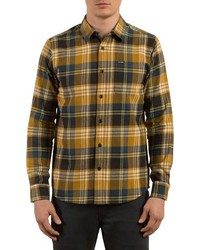 Mustard Plaid Long Sleeve Shirt