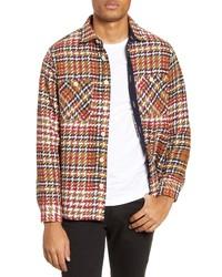 WAX LONDON Whiting Plaid Button Up Shirt Jacket