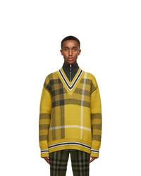 Burberry Yellow Check Fairhurst Sweater