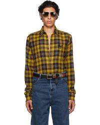 EGONlab Yellow Wool Tartan Shirt