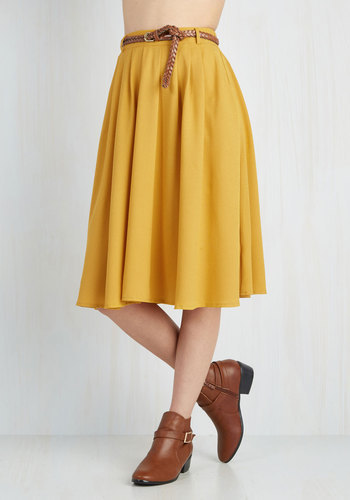 a3e9b3838 Hot And Delicious Breathtaking Tiger Lilies Skirt In Mustard, $49 ...