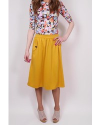 Mika rose mustard pocket skirt medium 362762