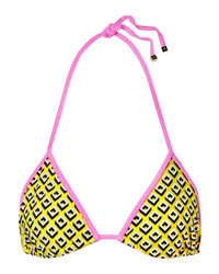Diane von Furstenberg Moss Printed Bikini Top