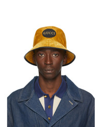 Gucci Yellow Off The Grid Gg Supreme Bucket Hat