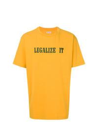 Mustard Print Crew-neck T-shirt