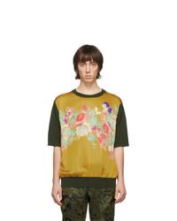 Dries Van Noten Khaki Merino Javelin T Shirt
