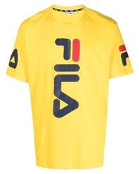 Fila Logo Print Cotton T Shirt