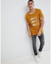 ASOS DESIGN Relaxed Longline T Shirt With Numerals Print