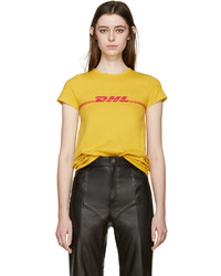 Vetements Yellow Dhl T Shirt