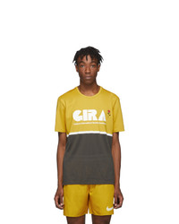Nike Yellow And Grey Gyakusou Dri Fit T Shirt