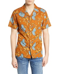 Mustard Print Short Sleeve Shirt