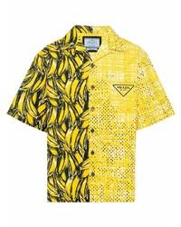 Prada Double Match Boxy Fit Shirt