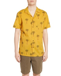 Banks Journal Palm Dreams Short Sleeve Button Up Camp Shirt