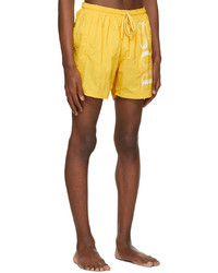 BOSS Yellow Octopus Swim Shorts