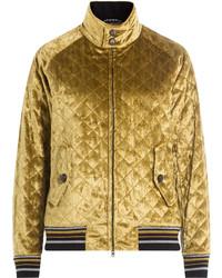 Maison Margiela Quilted Velvet Bomber Jacket