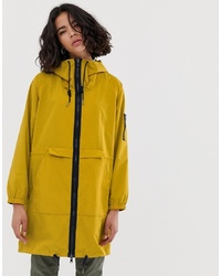 Esprit Nylon Lightweight Parka Jacket In Mustard