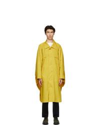 Issey Miyake Men Yellow Cloth Coat