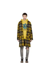 Amiri Yellow Mohair Cardigan Coat