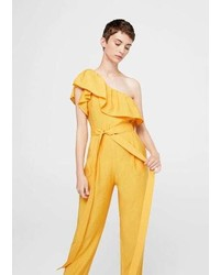 Mango Bow Ruffled Jumpsuit