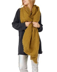 Free People Cotton Waffle Blanket Scarf