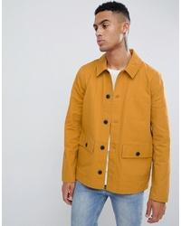 ASOS DESIGN Worker Jacket In Mustard