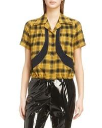 Mustard Short Sleeve Button Down Shirt