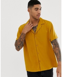 ASOS DESIGN Relaxed Deep Revere Shirt