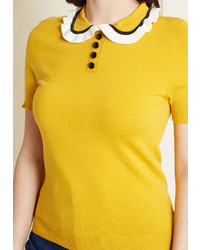 ModCloth Going Retro Short Sleeve Sweater In 2x By